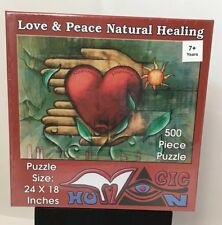 "New Love & Peace Natural Healing 500 Pc Jigsaw Puzzle 24 X 18"" GIc Humon"