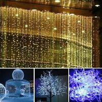 10m LED Christmas xmas String Fairy Wedding Curtain Light Party Decor EU Plug