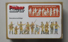 Unpainted Russian Infantry PREISER 1/87 Miniature Diorama Figure HO Scale 16530