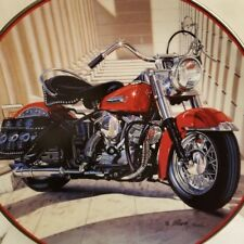 Franklin Mint Harley Davidson 49 Pan Head Collector Plate Motorcycle no crazing