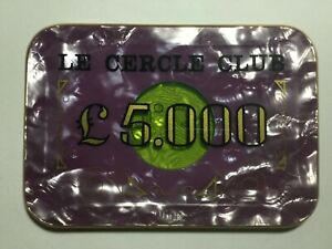 Old £5000 plaque from Le Cercle Club Casino (Les Ambassadeurs) in London.