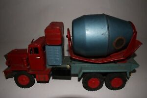 SSS Toys, 1950's Tin Friction Cement Truck, Original
