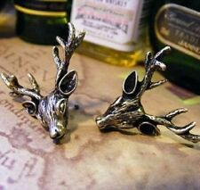 Vintage style antique bronze coloured stag reindeer deer stud earrings