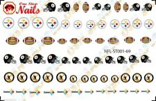 69pcs Pittsburgh Steelers Nail Art Decals Stickers Transfers ST001-69