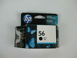 NEW HP 56 BLACK INK CARTRIDGE C6656AN GENUINE SEALED BOX  05/18