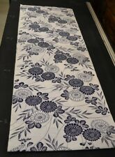Japanese Cotton Fabric White With Blue Floral Design 1514