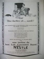 PUBLICITE DE PRESSE NESTLE UNE TARTINE DE SANTé ILLUSTRATION BOURDIER AD 1927