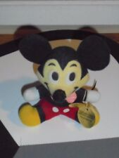 Vintage Disney Mickey Mouse Plush Doll with Wrong Tag OOAK Toy Collectible