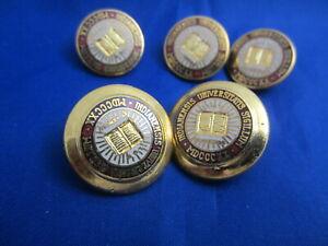 5 Ben Silver Indiana University Hoosiers Collectible Blazer Buttons Original Box