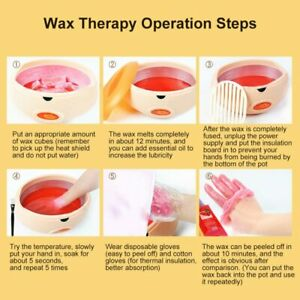 Paraffin Wax Machine 4 Hand & Feet therapy Relieves pain Bath Warmer Spa beauty