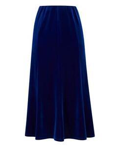 JD Williams Ladies Womens Stylish Pull On Panelled Velour Cobalt 32in Skirt 16
