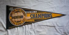 VINTAGE NFL PITTSBURGH STEELERS SUPER BOWL XL ONE FOR THE THUMB PENNANT CHAMPS