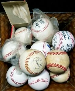 Lot of (15) 1940s to Modern Baseballs Reach Wilson Autographed