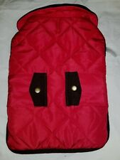 Wag & Bone Vest Jacket Quilted M Dog Canine Red Brown Corduroy Trim Winter Wear