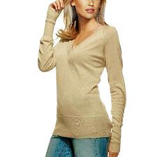 Lässiger Pullover Longpullover extra lange Arme Laura Scott Größe 32 hellbeige