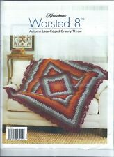 Herrschners Autumn Lace-Edged Granny Throw Blanket Afghan Crochet Kit