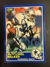 Herschel Walker Heisman/Dallas Signed 1990 Score Football Card Georgia with COA