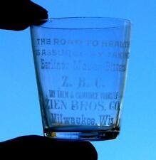 Z.B.C. BERLINER MAGEN BITTERS SHOT GLASS MILWAUKEE WI ZIEN BROS. CO.