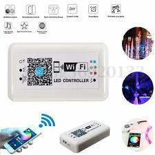 DC12-24V Wireless WIFI RGB LED Strip Light Controller Remote For iOS Android US