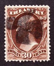 US O81 30c Treasury Department Used w/ Iron Cross Fancy Cancel