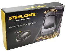 Steelmate PTS800EX Front and Rear Parking Sensors with Buzzer - Gloss Black
