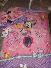DISNEY MINNIE MOUSE TODDLER 4PC BED SET COMFRTER SHEETS BEDDING