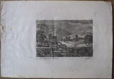 Eau-forte, Gabriel Perelle, Paysage avec rivière et tour en ruine, XVIIe