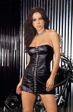 Black  Leather Mini Dress, super soft leather, Large, 1x New, super Hot, Sexy
