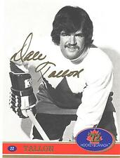 "1972 Team Canada Dale Tallon Factory Authentic ""Fingerprint Swirl Autograph # 22"