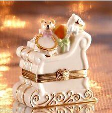 Lenox Christmas Sleigh Keepsake Treasure Box New In Box