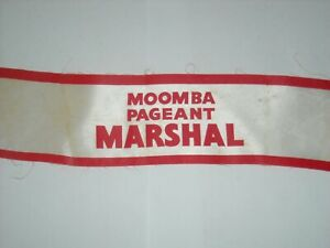 MOOMBA FESTIVAL Pageant MARSHAL Armband 1964 Melbourne