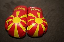 MACEDONIA / MACEDONIAN FLAG Mini Boxing Gloves Ornament *NEW*