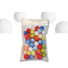 (0,05€/Stück) Wattekugeln farbig, Ø 16 mm bunter Zellstoff, 50er Pack