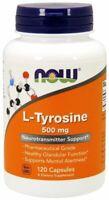Now Foods L-Tyrosine 500 mg 120 Caps Pharma Grade Mood Alert Thyroid Metabolism