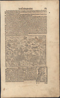 Battle of Bannockburn English Retreat Scotts Munster Cosmographia - 1628 Print