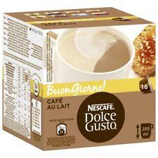 Caja de 16 capsulas cafe nescafe dolce gusto au lait originales para cafetera