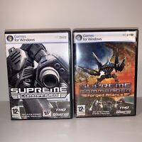 SUPREME COMMANDER + FORGED ALLIANCE GOLD EDITION PC GAME 2 DVD 12+ No Sleeve