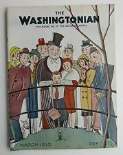 Rare The Washingtonian Magazine Art Deco Cover by Schus c  March 1930