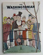 Rare The Washingtonian Magazine Art Deco Cover by Schus c  March 1930
