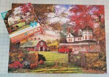 OLD PUMPKIN FARM 300 LARGE Pieces - Autumn Halloween Family Puzzle - FREE Ship