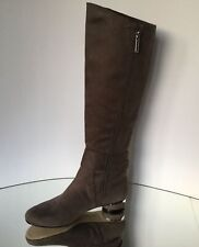 NEW KARL LAGERFELD Fran Block Heel Riding Boots (Size 6 M)