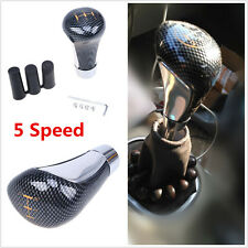 Universal Carbon Fiber Style Car 5 Speed Shift Knob Manual Gear Stick Shifter