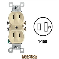 Leviton 223 15A-125V Outlet (Ivory) Box Of 19 New!