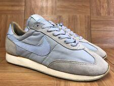 Vintage🔥 Nike Air Edge 1980'S Original Sneakers Canvas Suede Sz 9 Baby Blue