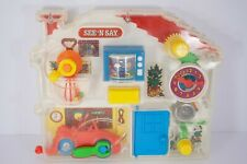Vintage 1991 Mattel See 'n Say Transparent Baby Toddler Activity Toy