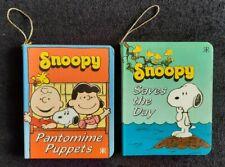 2 Mini Snoopy Books