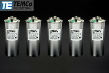 Temco 40/5 MFD UF Dual Run Capacitor 370 440 VAC Volts 5 Lot AC Motor HVAC 40 5