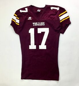 Russell Athletic Trojans Performance Football Jersey Men's Large Maroon
