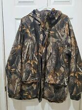 Winchester Mossy Oak fleece lined MENS LARGE L hunting jacket break up full zip