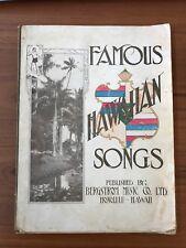 Famous Hawaiian Songs - Bergstrom Music Co/ AR Cubha 1914